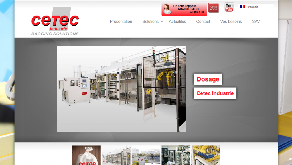 Site Internet CETEC Industrie