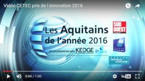 Cetec prix de l'innovation 2016